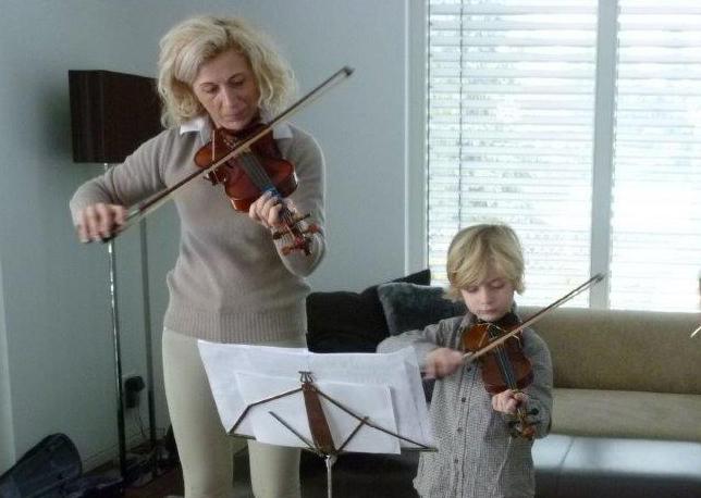 Elke Sanders mit Sohn